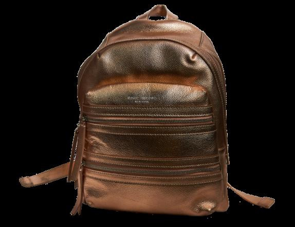 Фото золотой кожаный рюкзак - 2
