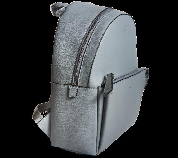 Фото серный кожаный рюкзак - 3
