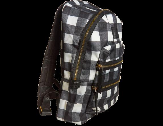 Фото рюкзак в черно белую сетку - 1